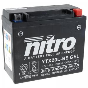 Nitro Batteri (YTX20L-BS) GEL