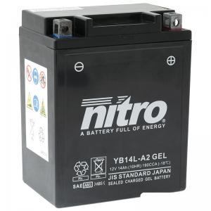 Nitro Batteri (YB14L-A2) GEL